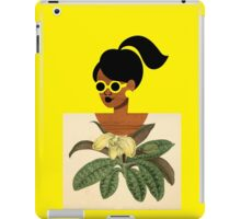 Ponytail Girl with Nature Shirt iPad Case/Skin