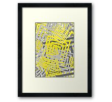 YG Abstract Geometric  Framed Print