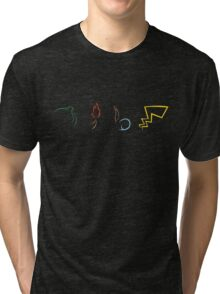 Starter Pokemon - Dark Theme Tri-blend T-Shirt