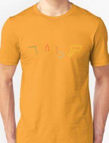 Starter Pokemon - Dark Theme Unisex T-Shirt