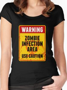 Zombie Infection Area Women's Fitted Scoop T-Shirt