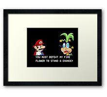 Super Street Fighter Mario Framed Print