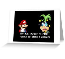 Super Street Fighter Mario Greeting Card