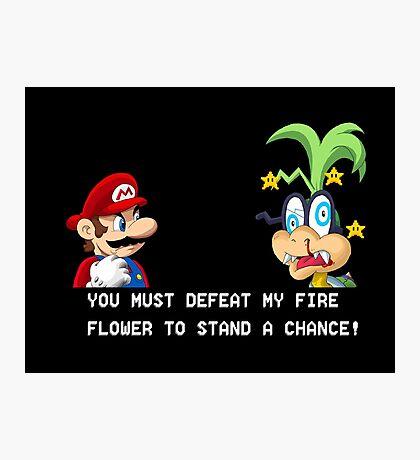Super Street Fighter Mario Photographic Print