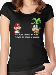 Super Street Fighter Mario Women's Fitted Scoop T-Shirt