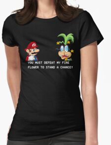 Super Street Fighter Mario Womens Fitted T-Shirt