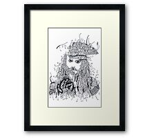 Johnny Depp (Pirates of the Caribbean) Framed Print