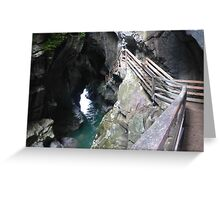 Lammerklamm Gorge - A Natural Wonder, Austria Greeting Card