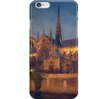 Notre Dame On The Seine Textured iPhone Case/Skin