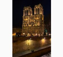 Notre Dame Night Painterly Unisex T-Shirt