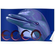 Ecco The Dolphin (Sega Genesis Title Screen) Poster