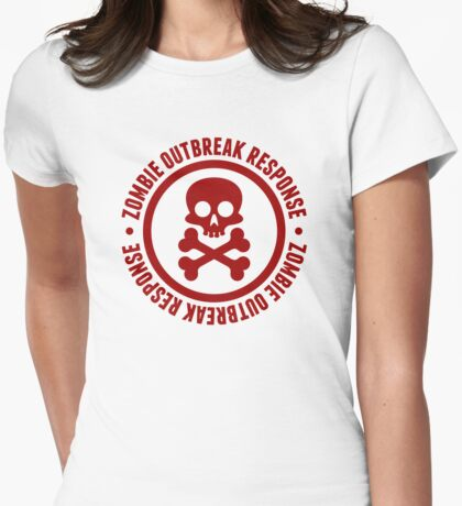 Zombie Outbreak II. Womens Fitted T-Shirt