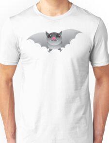 Grey flying bat Unisex T-Shirt