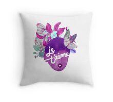 Je T'aime Botanical Print Throw Pillow