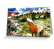Bellowing Stag Watercolour Artwork Greeting Card