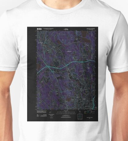 USGS TOPO Map Rhode Island RI Pawtucket 20120604 TM Inverted Unisex T-Shirt