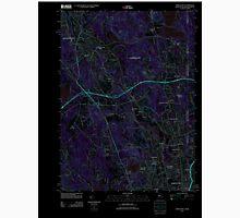 USGS TOPO Map Rhode Island RI Pawtucket 20120604 TM Inverted Unisex T-Shirt