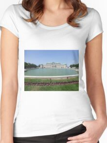 Belvedere Palace in Vienna, Austria Women's Fitted Scoop T-Shirt