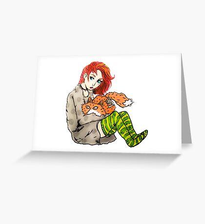 dana & fox Greeting Card