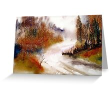 Landscape..Winter Walk Greeting Card