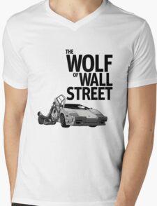THE WOLF OF WALL STREET-LAMBORGHINI COUNTACH Mens V-Neck T-Shirt
