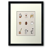 But first, Coffee. Framed Print