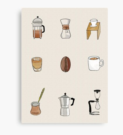 But first, Coffee. Canvas Print