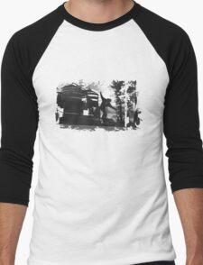 Sk8 B&W Men's Baseball ¾ T-Shirt