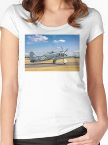 Hawker Sea Fury T.20S VX281 G-RNHF Women's Fitted Scoop T-Shirt