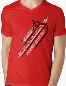 Monorail Red T-Shirt  Mens V-Neck T-Shirt