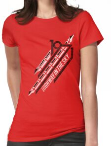 Monorail Red T-Shirt  Womens Fitted T-Shirt