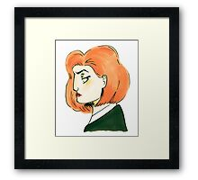 skeptical scully Framed Print
