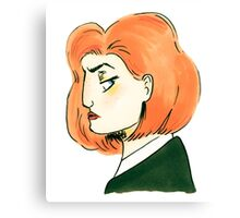 skeptical scully Canvas Print