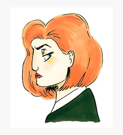 skeptical scully Photographic Print