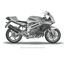 Falco Motorcycle in digital detail Photographic Print
