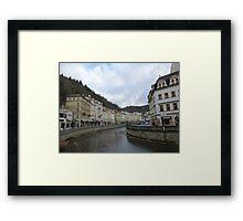 The Cosmopolitan Town of Karlovy Vary, Czech Republic Framed Print