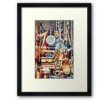 Music Store in NYC Framed Print