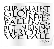 Confucius - Falling - Typography Poster
