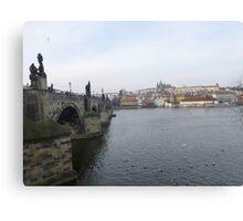 Famous Charles Bridge & Castle in Prague, Czech Republic Canvas Print