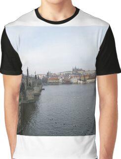 Famous Charles Bridge & Castle in Prague, Czech Republic Graphic T-Shirt