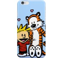 LOVEABLE CALVIN AND HOBBES : TSHIRT iPhone Case/Skin