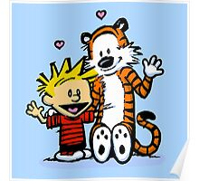 LOVEABLE CALVIN AND HOBBES : TSHIRT Poster