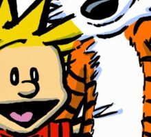 LOVEABLE CALVIN AND HOBBES : TSHIRT Sticker