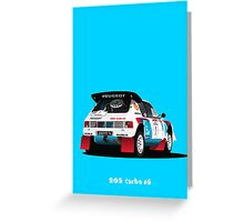 PEUGEOT 205 TURBO 16 RALLY CAR Greeting Card