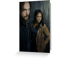 Sleepy Hollow - Ichabod and Abbie Greeting Card