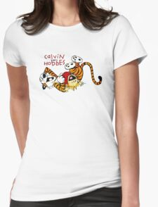 CALVIN AND HOBES LAUGH : TEE Womens Fitted T-Shirt