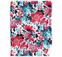 Happy Red Flower Collage Poster