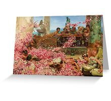 The Roses of Heliogabalus by Sir Lawrence Alma-Tadema Greeting Card