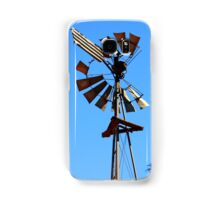 Windmill on Blue - Millstream Homestead Samsung Galaxy Case/Skin