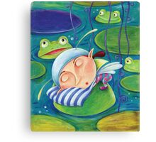 Waterlily elf Canvas Print